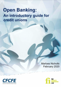 The front page of the finance innovation lab's report on credit unions and open banking.