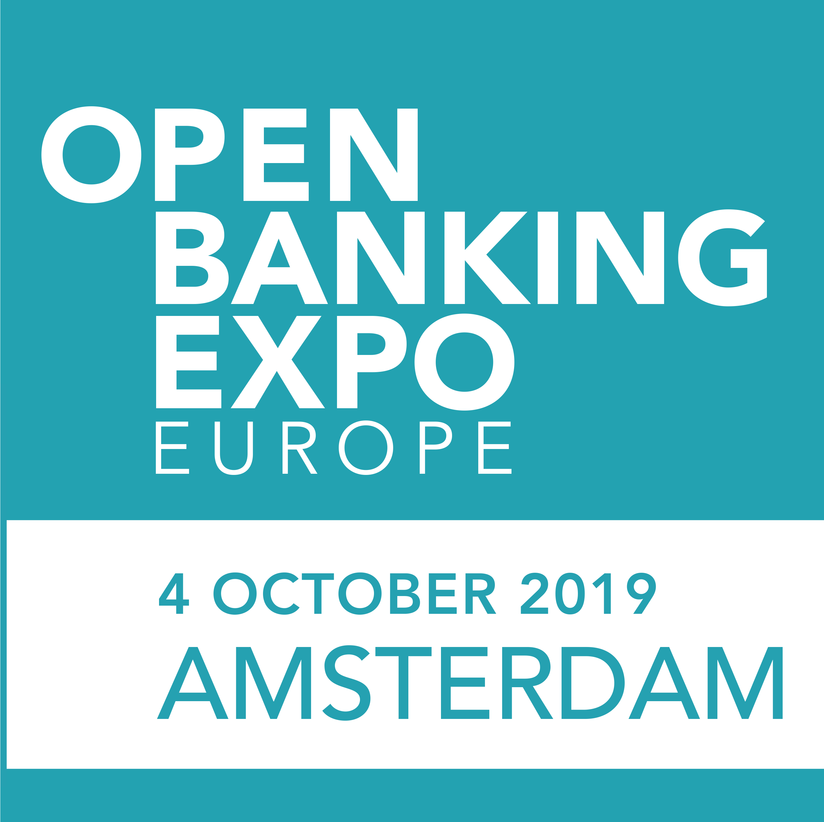 Open Banking Expo's Amsterdam conference logo.