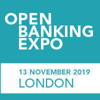 Open Banking Expo's London conference logo.