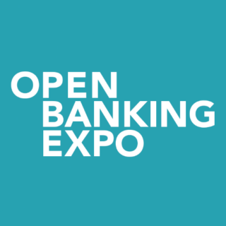 The Open Banking Expo logo - white text on a turquoise square.